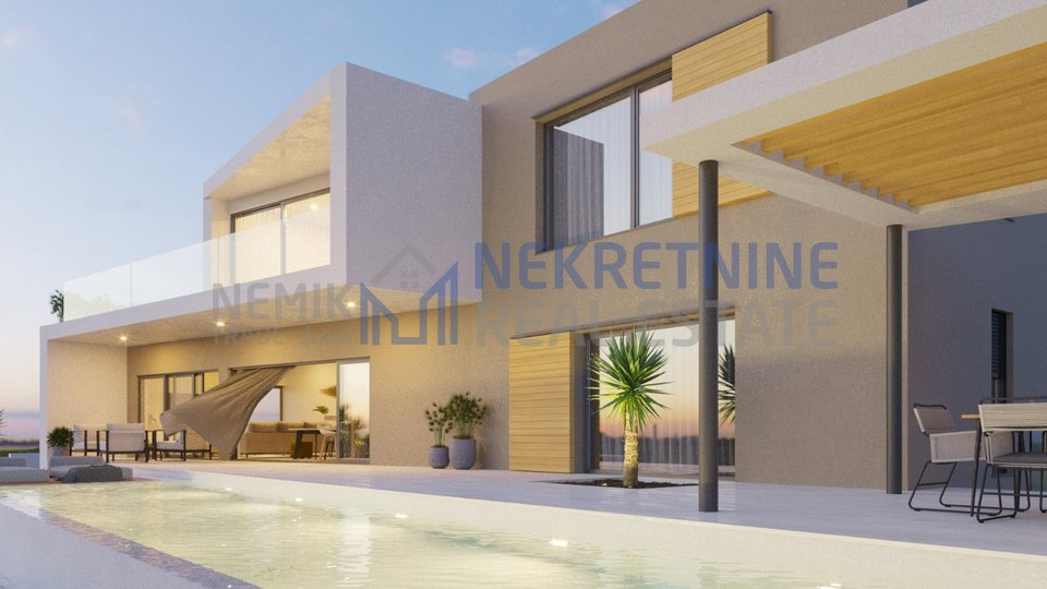 Vodice, modern villa with pool under construction