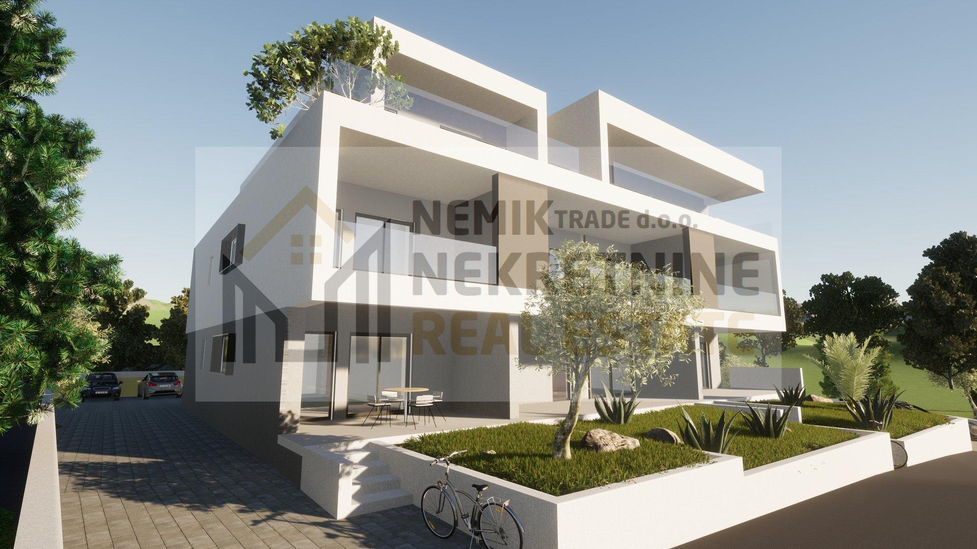 Vodice, ground floor apartment with garden - new building
